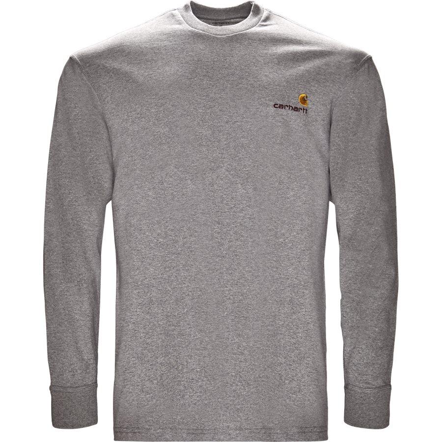 L/S AMERICAN SCRIPT I025712 - L/S American Script - T-shirts - Regular - GREY HTR - 1